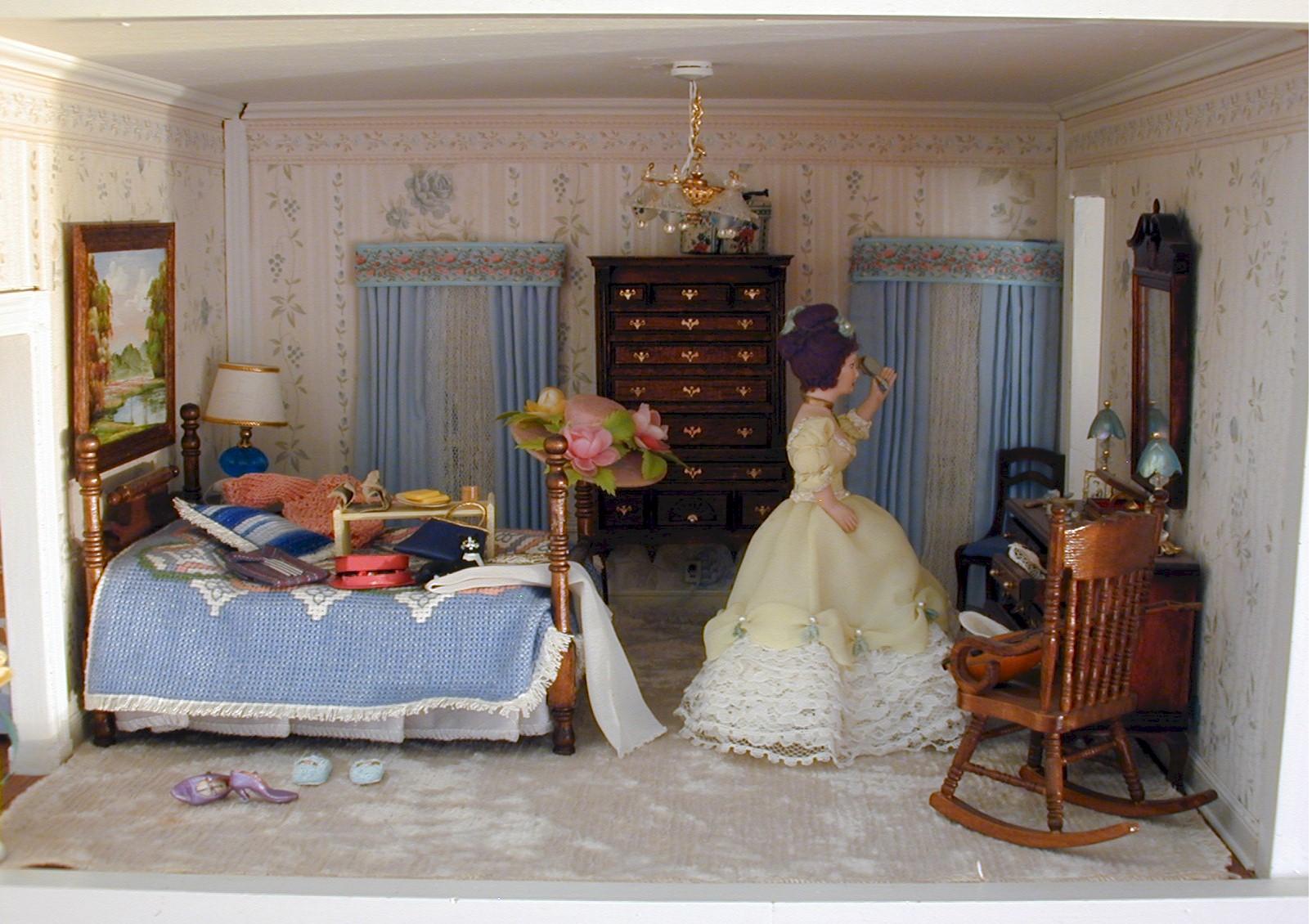 Grace 39 s dollhouse for Dollhouse bedroom ideas