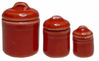 B327 3 pc Rose Canister Set