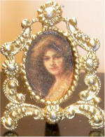 Aglaie, Batrice Offor in Gold Standing Ornate Frame HS