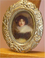 Portrait of a Lady Paul César Helleu's in tiny oval gold frame