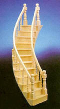 CLA70222 Curved Right Stairs