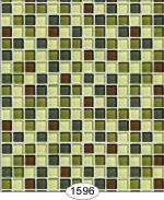 IB 1596 Mosaic Glass Tile - Green
