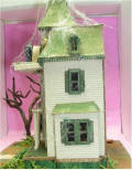 Bashed Beacon Hill Kit to make Addams Family Clock Tower House by Grace