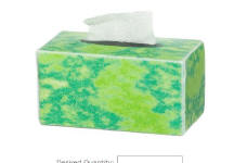 TIN1036 Green tissue box