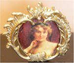 An Elegant Lady With A Yellow Rose by Emile Vernon, Date unknown (1 of 2) Gold Victorian Standing Frame
