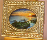 Basham Beach Sunset by Getty Images in Gold Victorian Picture Frame