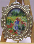 P61 Butterfly Hunt in Gold Victorian Rectangle Frame