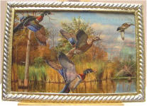 Ducks on the River in Gold & Silver Frame