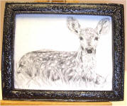 A35 Fawn in Black Frame