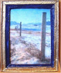 S29 Fence Line in Navy & Gold Frame