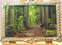 S57 Forest, Northern England in Gold Frame