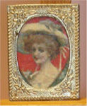 P62 Lady in a hat in Gold Frame