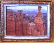 Painted Dessert in Red Copper & Silver Frame