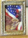 A29 Patriotic Puppies in Gold Frame