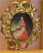 Portrait of Lady Grantham, by George Rommey in Gold Frame