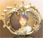 Portrait of a Lady (Ivan Makarov - 1885) in Gold Victorian Standing Frame