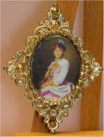 Portrait of a Lady (Ivan Makarov - 1885)  in gold diamond frame