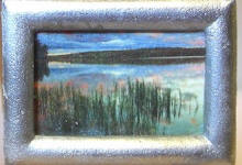 S41 Reeds in the Lake in Silver Frame