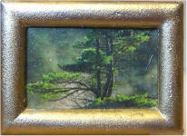 S43 The Tree in Gold Frame