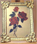 S61 Three Roses in Gold Frame