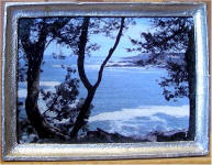 S58 View of the Ocean in Silver Frame