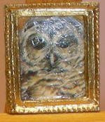 Owl in Gold Picture Rectangle Frame