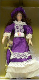 Bendable Victorian Doll in Purple