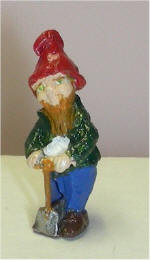 Hand Painted Digging Gnome