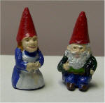 Hand Painted Female and Male Gnomes