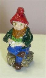 Hand Painted Reading Gnome