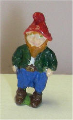 Hand Painted Standing Gnome
