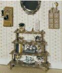 CB2103 Chrysnbon What Not Table- Spice Chest & Wall Phone